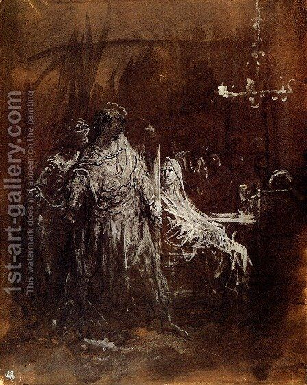 Spectrum appearance of Banquo by Gustave Dore - Reproduction Oil Painting