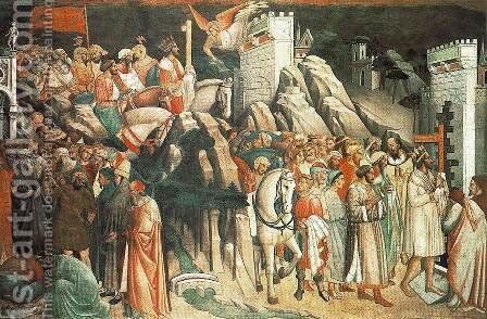 The Triumph Of The Cross (detail) by Agnolo Gaddi - Reproduction Oil Painting