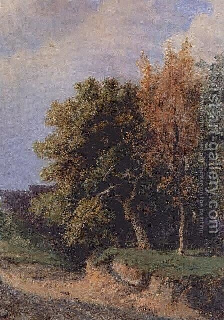 Landscape with road by Alexei Kondratyevich Savrasov - Reproduction Oil Painting