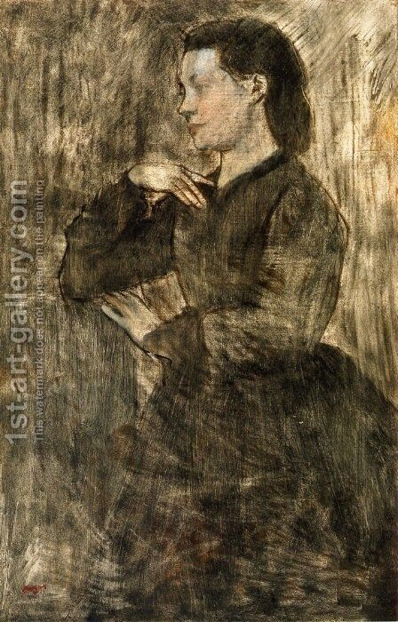 Portrait of a Woman by Edgar Degas - Reproduction Oil Painting