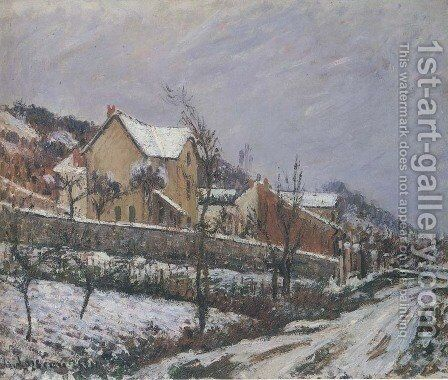 Village in Snow by Gustave Loiseau - Reproduction Oil Painting