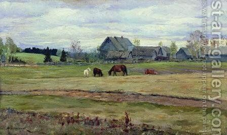 Dull day by Isaak Ilyich Levitan - Reproduction Oil Painting