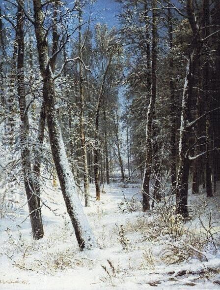 Winter in a forest (Rime) by Ivan Shishkin - Reproduction Oil Painting