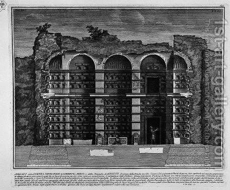 The Roman antiquities, t. 3, Plate XXIII. Cutaway view of the previous burial chambers. by Giovanni Battista Piranesi - Reproduction Oil Painting