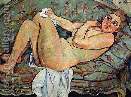 Reclining nude by Suzanne Valadon - Reproduction Oil Painting