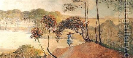 Follow the Stream (right wing) by Jacek Malczewski - Reproduction Oil Painting