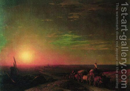 Chumaks Waggons by Ivan Konstantinovich Aivazovsky - Reproduction Oil Painting