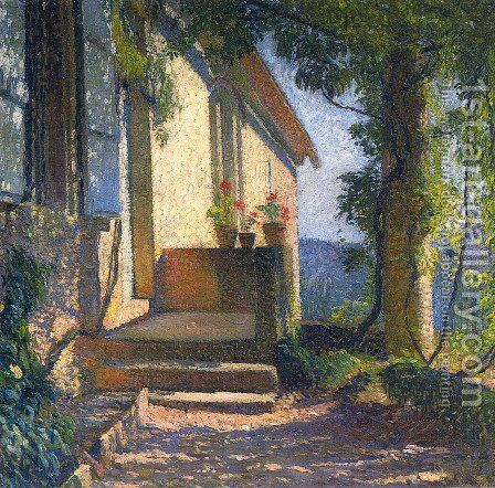 Facade of the House by Henri Martin - Reproduction Oil Painting