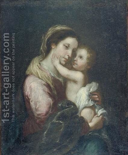 The Virgin And Infant Jesus by Bartolome Esteban Murillo - Reproduction Oil Painting