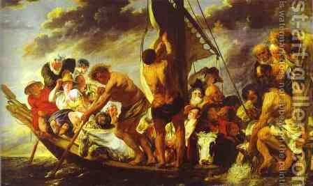 Ferry Boat to Antwerp by Jacob Jordaens - Reproduction Oil Painting