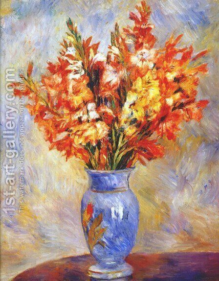 Gladioli 2 by Pierre Auguste Renoir - Reproduction Oil Painting