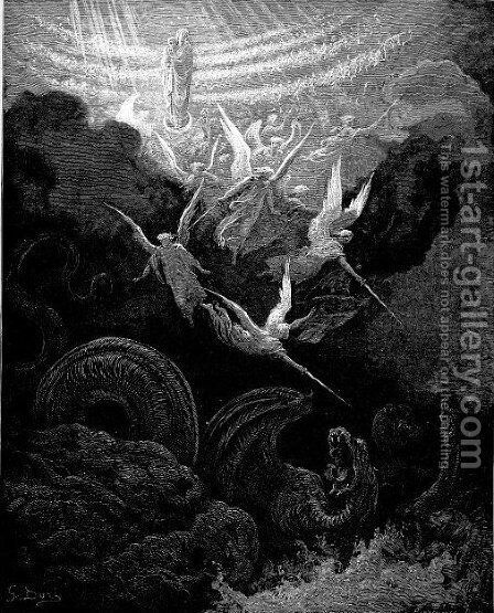 The Crowned Virgin Vision Of John by Gustave Dore - Reproduction Oil Painting