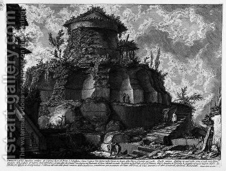 The Roman antiquities, t. 2, Plate XXVIII. Plan, and elevation cross-section of the Tomb of the Scipios. by Giovanni Battista Piranesi - Reproduction Oil Painting