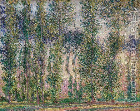 Poplars at Giverny by Claude Oscar Monet - Reproduction Oil Painting