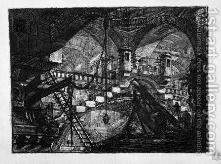 The Arch with a Shell Ornament by Giovanni Battista Piranesi - Reproduction Oil Painting