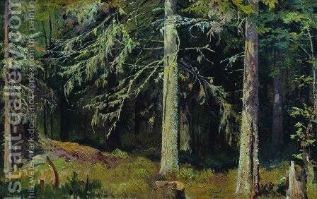 Fir forest by Ivan Shishkin - Reproduction Oil Painting