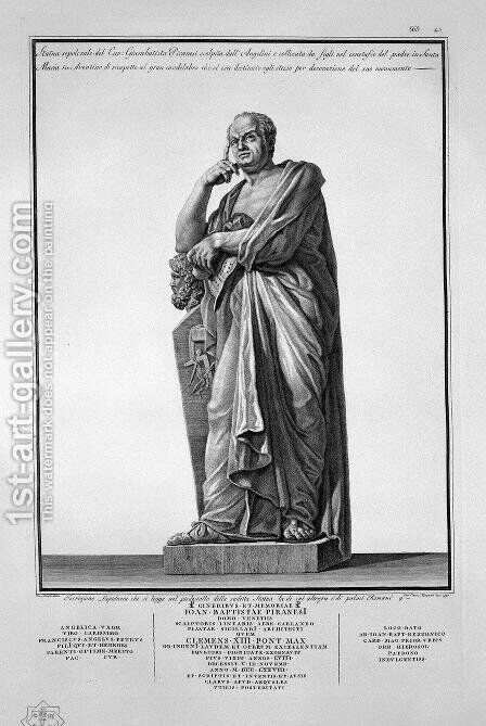 The burial statue by Giovanni Battista Piranesi - Reproduction Oil Painting