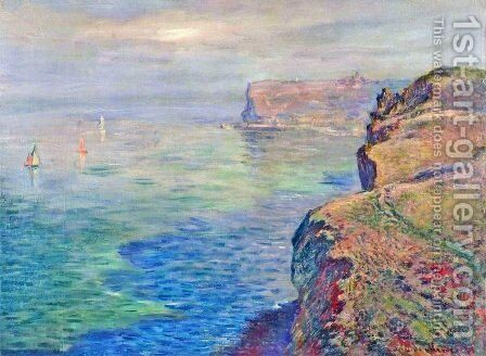 Cliff at Grainval near Fecamp by Claude Oscar Monet - Reproduction Oil Painting