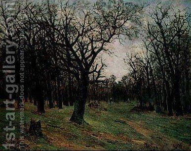 Leafless forest by Ion Andreescu - Reproduction Oil Painting