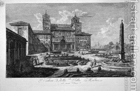 View of the Villa Medici by Giovanni Battista Piranesi - Reproduction Oil Painting
