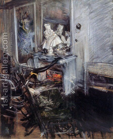 Room of the Painter by Giovanni Boldini - Reproduction Oil Painting