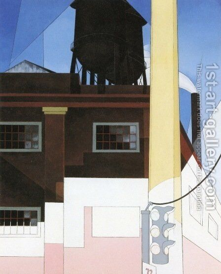 And the Home of the Brave by Charles Demuth - Reproduction Oil Painting