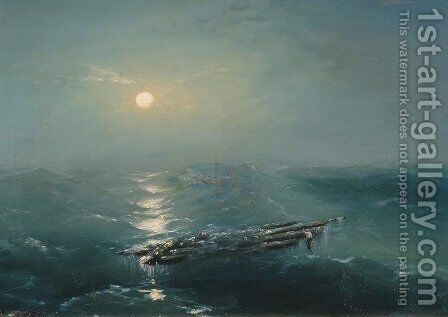 Sea at night 2 by Ivan Konstantinovich Aivazovsky - Reproduction Oil Painting