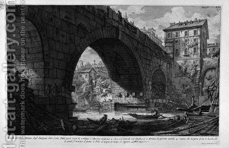 The Roman antiquities, t. 4, Plate XXI. Other split, profiles and details of the Bridge of Four Heads. by Giovanni Battista Piranesi - Reproduction Oil Painting