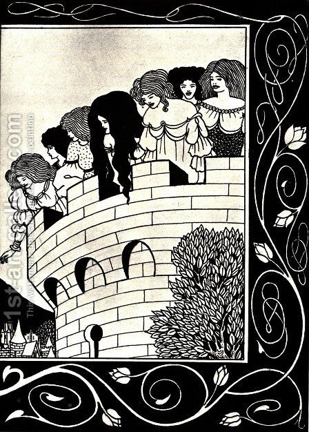 A Devil in Woman's Likeness 2 by Aubrey Vincent Beardsley - Reproduction Oil Painting