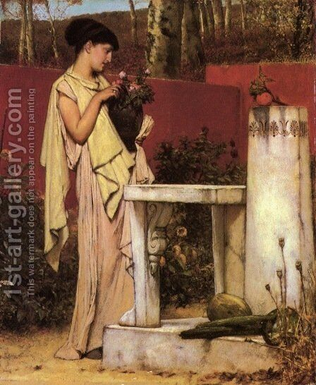 The Last Roses by Sir Lawrence Alma-Tadema - Reproduction Oil Painting