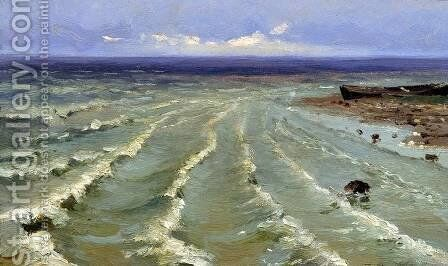 The Sea by Efim Efimovich Volkov - Reproduction Oil Painting