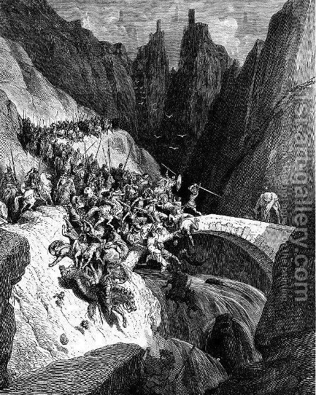 Don Quixote 17 by Gustave Dore - Reproduction Oil Painting