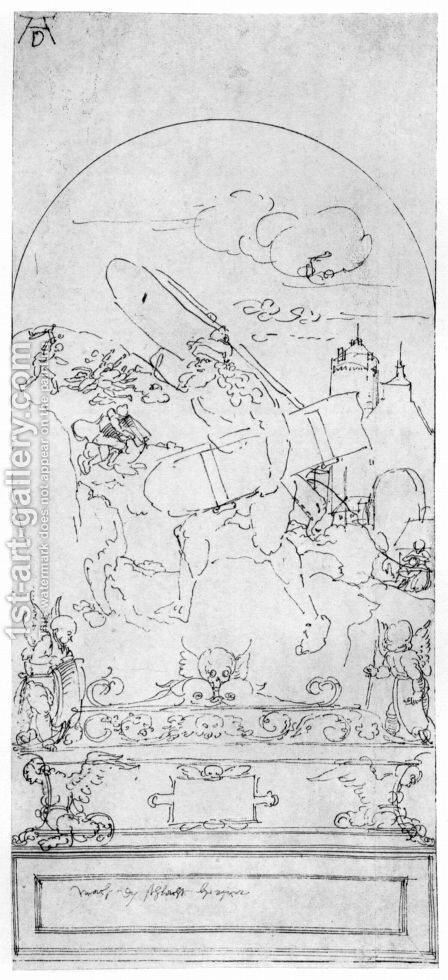 Design for the Fugger Chapel in Augsburg Simson with the doors of Gaza by Albrecht Durer - Reproduction Oil Painting