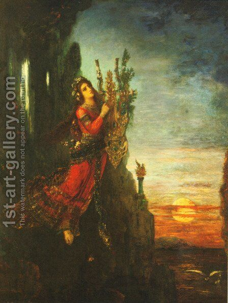 Sappho by Gustave Moreau - Reproduction Oil Painting