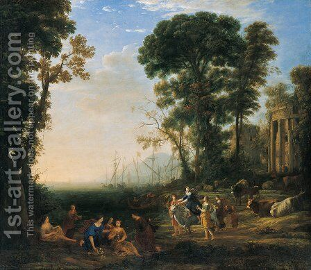 Coast Scene with Europa and the Bull by Claude Lorrain (Gellee) - Reproduction Oil Painting