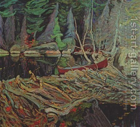 The Beaver Dam by James Edward Hervey MacDonald - Reproduction Oil Painting
