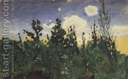 Wild grass by Arkhip Ivanovich Kuindzhi - Reproduction Oil Painting