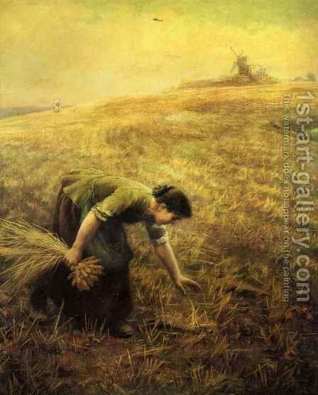Gleaning by Arthur Hughes - Reproduction Oil Painting
