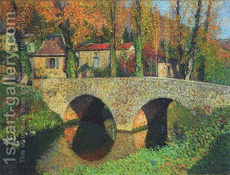 The Bridge in Labastide du Vert 2 by Henri Martin - Reproduction Oil Painting