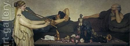Pompeian Scene or The Siesta by Sir Lawrence Alma-Tadema - Reproduction Oil Painting