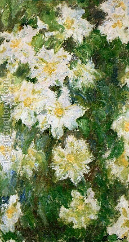White Clematis by Claude Oscar Monet - Reproduction Oil Painting