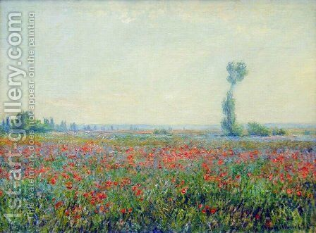 Poppy Field by Claude Oscar Monet - Reproduction Oil Painting