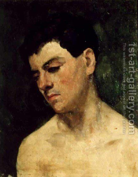 Head of a young man by Ion Andreescu - Reproduction Oil Painting