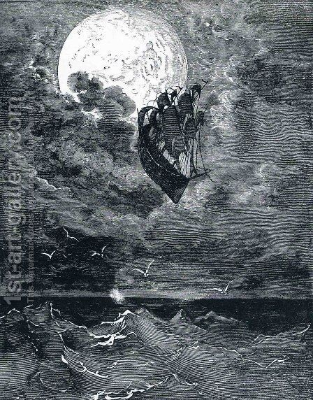 A Voyage to the Moon by Gustave Dore - Reproduction Oil Painting