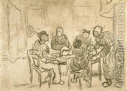 Sketch of the Painting The Potato Eaters by Vincent Van Gogh - Reproduction Oil Painting