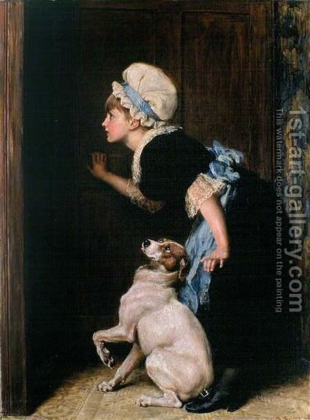 Mother Hubbard by Briton Rivière - Reproduction Oil Painting