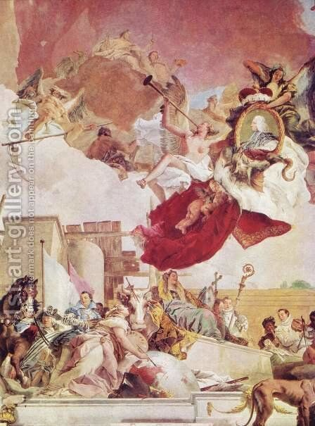 Europa by Giovanni Battista Tiepolo - Reproduction Oil Painting