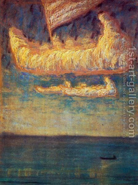 Thoughts by Mikolajus Ciurlionis - Reproduction Oil Painting