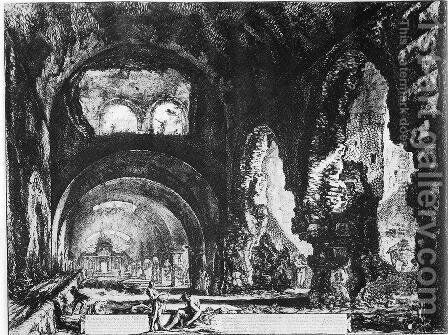 Vedute di Roma 30 by Giovanni Battista Piranesi - Reproduction Oil Painting