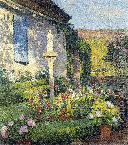 Garden of Labastide du Ver in Marquayrol by Henri Martin - Reproduction Oil Painting